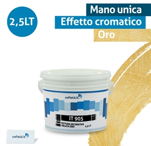 Pittura decorativa velata oro lt2,5